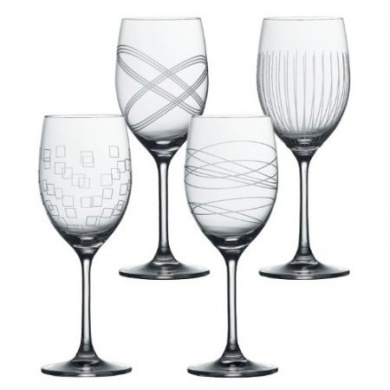 Royal Doulton Party Goblet - Set of 4 Assorted