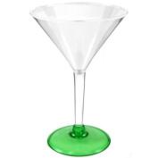 Green Acrylic Martini Glasses, Set of 4