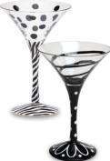 Mix and Match,Martini Glass12 oz,Glass,11.4cm x 17.8cm ,Assorted 2