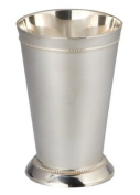 12.7cm SILVER PLATED BEADED MINT JULEP CUP
