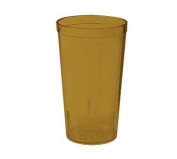G.E.T. (6 dz) Amber Textured Drinkware Tumblers - 350ml Stackable, San, NSF