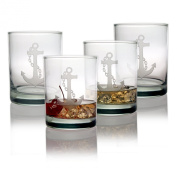 Susquehanna Glass Anchor Double Old Fashioned Glasses, Set of 4