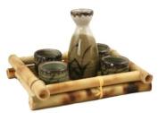 Glazed Ceramic 5 Pcs Japanese Sake Set