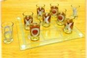 Crystal Clear Shot Glass Tic Tac Toe Bar Game Set