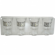 30th birthday sq shot glasses