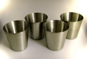 Shot Glasses Stainless Steel - Pack of 4