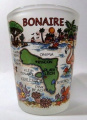 Bonaire Netherlands Antilles Map Shot Glass
