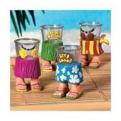 Plastic Luau Character Shot Glass (2.4 Oz) (1 dozen) - Bulk [Toy]