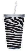 Evergreen Enterprises 2AC0004 17oz Insulated Cup with Straw - Zebra