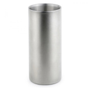 StainlessLUX 73261 Double Walled Stainless Steel Drinking Glass, 350ml/1.5-Cup