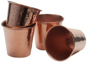 Sertodo Copper Cups, Hammered Copper, 350ml, Set of 4