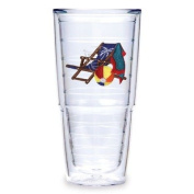 Tervis Tumbler Blue Beach Chair 710ml Double Wall Insulated Tumbler, Set of 2