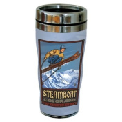 TreeFree Greetings 77429 Steamboat Ski Jump by Paul A. Lanquist Vintage Art Sip 'N Go Travel Tumbler, Stainless Steel, 470ml, Multicoloured