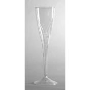 Classicware One-Piece Champagne Flute Glass in Clear