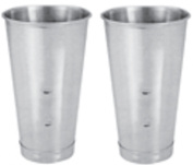 Lot of 2 Stainless Steel Malt Cups