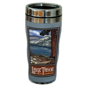 TreeFree Greetings 77388 Lake Tahoe Scenic by Paul A. Lanquist Vintage Art Sip 'N Go Travel Tumbler, Stainless Steel, 470ml, Multicoloured