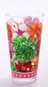 Acrylic Hiball 650ml, Floral Splash,3.5x8.9cm x 15.2cm