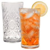 THE Boutique Famous-maker Stunning Cut-glass Star Burst Design Coolers Tumblers, 470ml