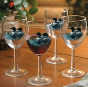 Loons 300ml White Wine Glasses by Persis Clayton Weirs