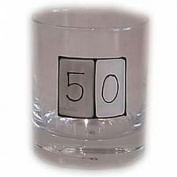 50th birthday Gift whiskey glass