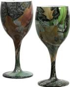 Green Camo Wine Glasses set/2