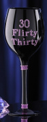Glitter Flirty 30 Birthday Wine Glass