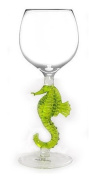 Seahorse Hand Made Wine Glass from Yurana Designs - W183