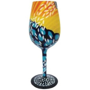 22.9cm Coral Reef Bommie Motif 440ml Wine Style Cocktail Bar Glass