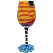 22.9cm Coral Reef Motif 440ml Wine Style Cocktail Bar Glass