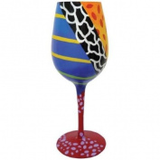 22.9cm Coral Reef Purple Wrasse 440ml Wine Style Cocktail Bar Glass