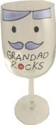Grandad Rocks Wine Glass