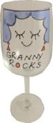 Granny Rocks Wine Glass