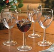 Pheasant 300ml White Wine Glasses by David Maass