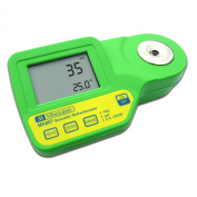 Milwaukee MA871 Digital Sugar Refractometer with Automatic Temp Compensation, Yellow LED, 0 to 85 percent Brix, +/- 0.2 percent Accuracy, 0.1 percent Resolution