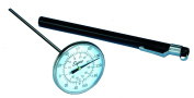 Supco ST08 Stainless Steel Pocket Dial Thermometer, 13cm Stem, 2.5cm - 1.9cm Dial, -40 to 160 Degrees F