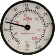 Winters TMT Series Steel Dual scale Surface Magnet Thermometer, 5.1cm Dial Display, +/-2% Accuracy, 0-250 F/C Range
