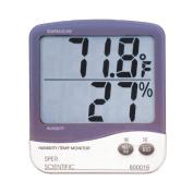 Sper Scientific 800016 Humidity/Temperature Monitor, 110mm L x 97mm W x 20mm D