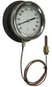 Industrial Grade 12U655 Panel Mount Thermometer, 30 to 180 F