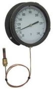 Industrial Grade 12U664 Panel Mount Thermometer, 0 to 100 F
