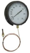Industrial Grade 13G220 Panel Mount Thermometer, 0 to 100 F