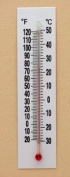 Thermometer Plastic Back Double Scale -20 to 120 deg F -30 to 50 deg C