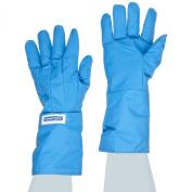 NSA G99CRBEMAXLP Nylon Taslan and PTFE Mid-Arm Waterproof Safety Glove, Cryogenic, 35.6cm - 38.1cm Length, X-Large, Blue