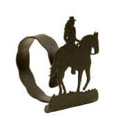 Lady Horse Back Rider NAPKIN RING