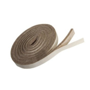 TAN Coloured Heavy Duty Felt Stripping With Adhesive - 147.3cm Long X 1.3cm Wide X 0.5cm Thick - 4 Pcs Value Pack