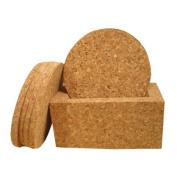 Cork Coasters (6pc set) With Coaster Holder