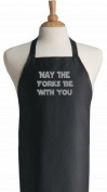 May The Forks Be With You Black Star Wars Aprons