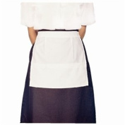 Waitress Apron - With pocket. Polycotton. One size fits all.
