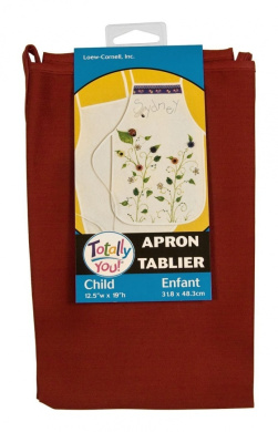 Loew Cornell KDAP-0202 Totally You Child Apron, Red