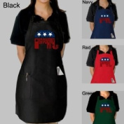 """Large Red Republican GOP 2012 Word Art Dual Pocket Adjustable Apron - Created out of the words """"Grand Old Party"""""""