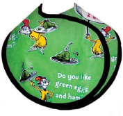 Dr. Seuss in the Kitchen Reversible Baby Bib, Green Eggs and Ham, Green and Black